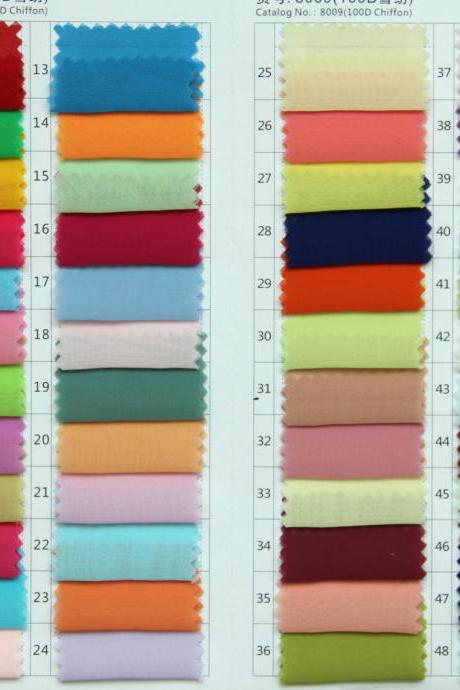 Fabric swatch For Chiffon