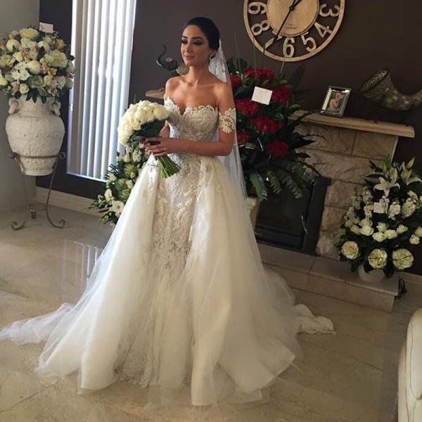 New Ball Gown Lace Wedding Dresses Custom Made Princess Wedding Gown High Quality Luxurious Bridal Wedding Gown 100% Real Photo
